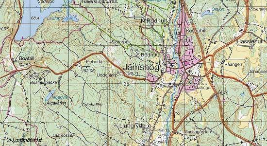 skåne topografisk karta