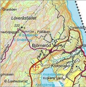 Karta Vastkusten Bohuslan.Hogsta Punkten I Landskapet Bohuslan