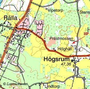 Topo map, Rösslösa in the Province of Öland